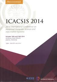 ICACSIS 2014 ( 2014 International Conference on Advanced Computer Science and Information Sysytem) : IEEE ( Indonesia Section )  IEEE ( Indonesia Section )