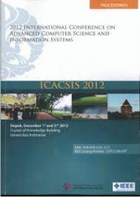 Image of ICACSIS 2012 ( 2012 International Conference on Advanced Computer Science and Information Sysytem) : IEEE ( Indonesia Section )